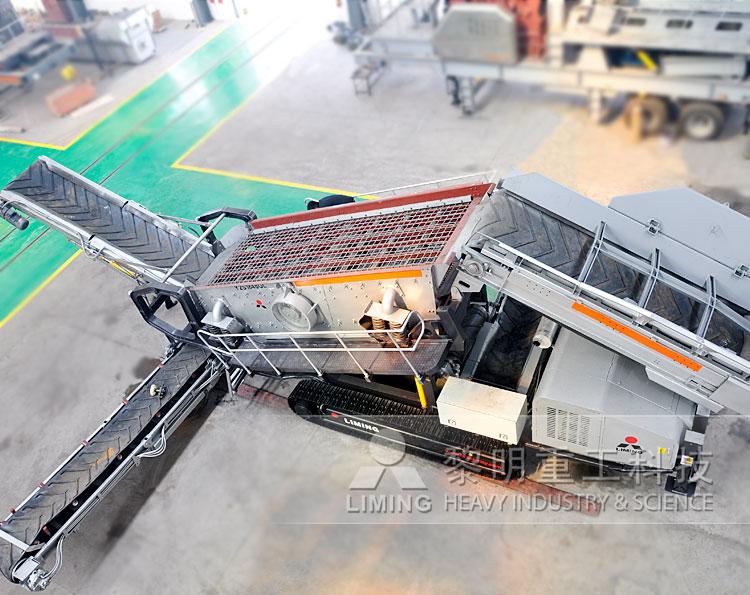 履带式移动破碎站|履带移动破碎机|履带建筑垃圾处理设备